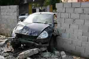 Car Crashed Through Wall