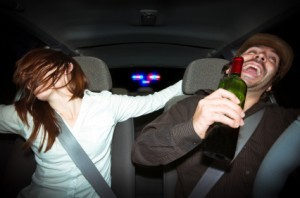 Caught by police for drinking and driving