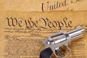 A gun and the Declaration of Independence