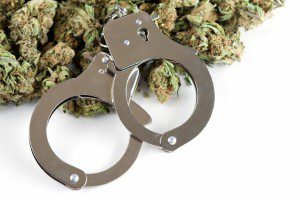 Marijuana and handcuffs