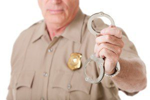 Officer with handcuffs