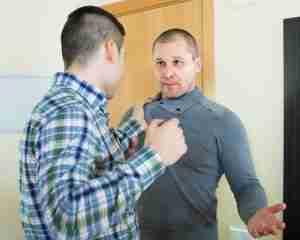 Man attacking man