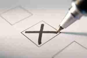Pen checking ballot box