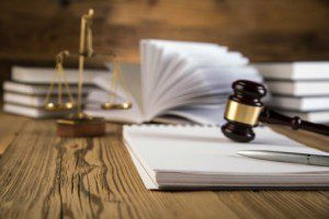 Gavel and papers