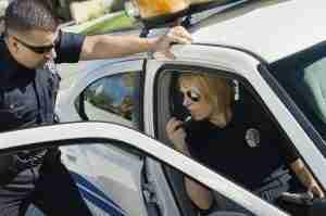 Police officers making arrest