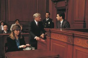 Confronting witness in court