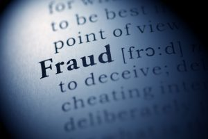 Dictionary definition of the word Fraud.