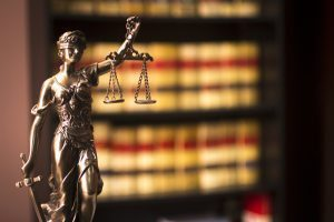 law books and justice scale