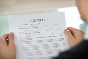 Man reading contract
