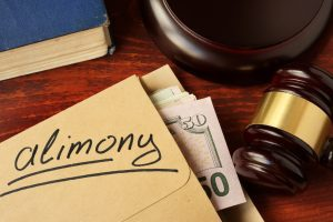 Alimony envelope with money