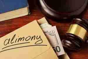 Alimony envelope with money