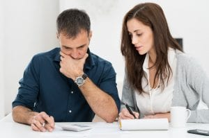 couple reviewing documents