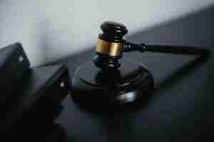 black judicial gavel