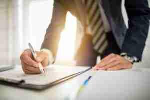 attorney signing document